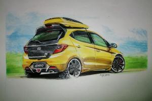 Sketsa mobil top gear: Raja LCGC kembali, Honda Brio siap diluncurkan dari kertas