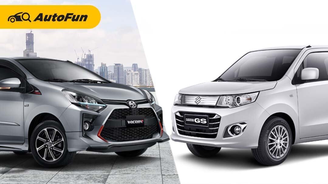 City Car Rp150 Jutaan, Pilih Suzuki Karimun Wagon R GS AGS atau Toyota Agya G MT TRD? 01