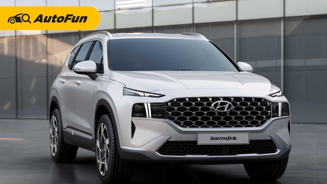 Deretan Keunggulan Hyundai Santa Fe 2021, Kekuatan Mesin Dieselnya Langkahi Pajero Sport 01