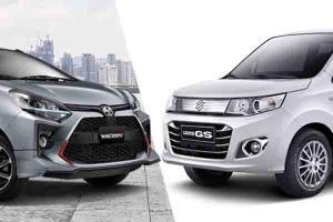 City Car Rp150 Jutaan, Pilih Suzuki Karimun Wagon R GS AGS atau Toyota Agya G MT TRD?