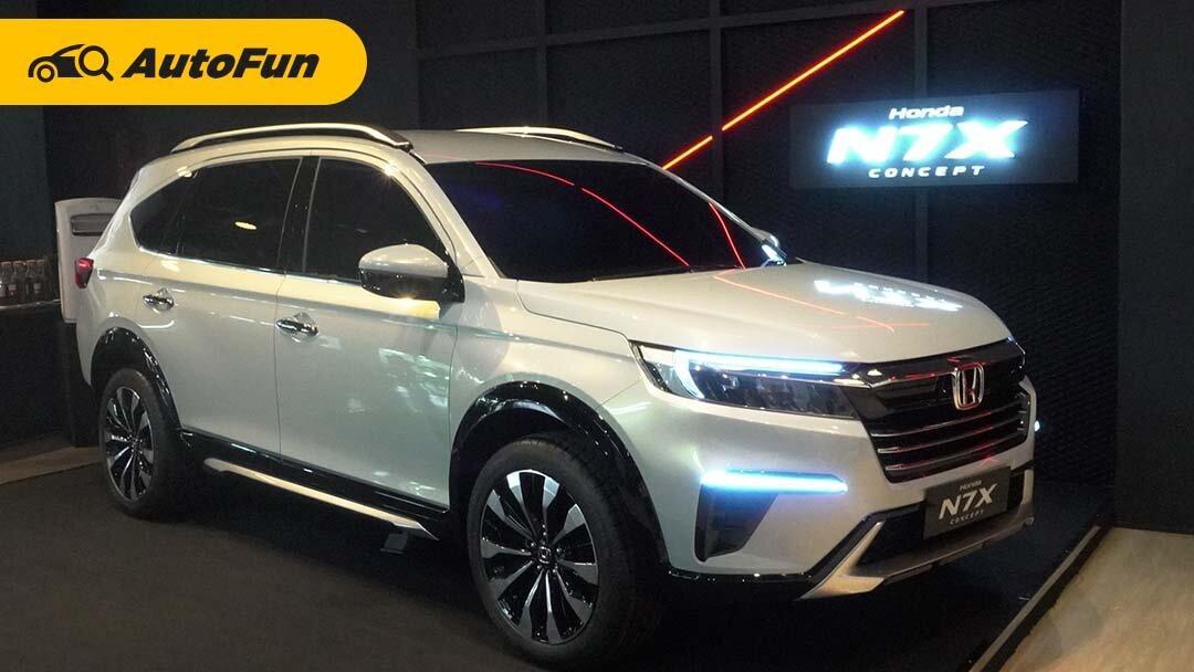 Adu Dimensi Honda N7X Concept Vs Toyota Rush Vs Mitsubishi Xpander Cross, Mana Paling Besar? 01