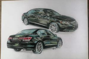 Sketsa Mobil: Wow,  Honda Accord yang ganti lingkar roda kok lebih keren dari aslinya?