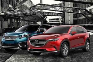Membandingkan Ruang Kepraktisan LSUV Premium Mazda CX-9 dan Peugeot 5008, Unggul Mana?