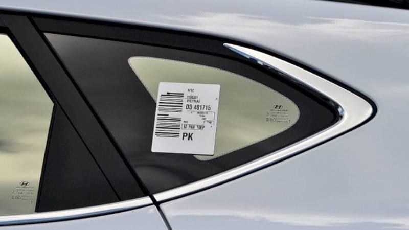 Stiker Barcode di Kaca Mobil -1
