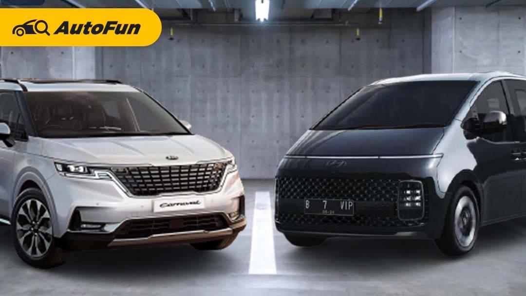 Komparasi KIA Carnival 2022 Vs Hyundai Staria, Adu Gengsi MPV Premium Negeri Gingseng 01