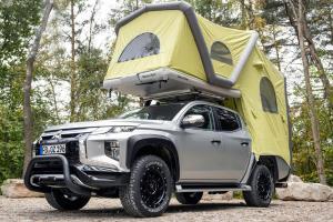 Mitsubishi Triton Dengan Roof Tent, Kemping di Bumi Perkemahan Bikin Lupa Mudik Lebaran