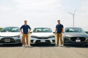 Pertarungan Seru Honda Civic 2022 vs Mazda 3 vs Toyota Corolla di Lintasan Drag Race, Siapa Paling Kencang?