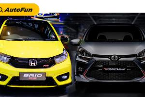 Adu Ganteng New Honda Brio RS 2021 Urbanite Edition vs Toyota Agya 2021 TRD