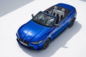BMW M4 Convertible 2022, Keanehan Gril Besarnya Tersamar Desain Cantik Atap Terbuka
