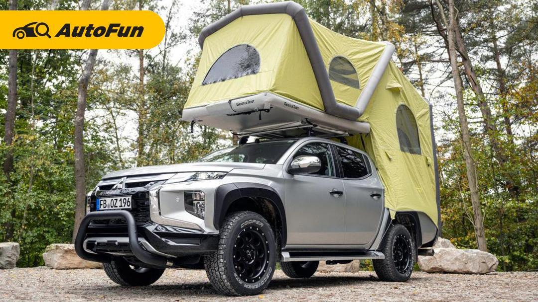 Mitsubishi Triton Dengan Roof Tent, Kemping di Bumi Perkemahan Bikin Lupa Mudik Lebaran 01
