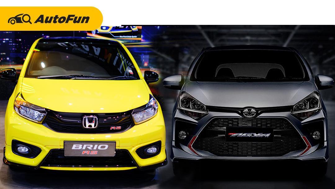 Adu Ganteng New Honda Brio RS 2021 Urbanite Edition vs Toyota Agya 2021 TRD 01