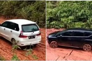 Bukti Ketangguhan RWD Toyota Avanza di Jalan Tanah Pedalaman Kalimantan, Xpander Dengan FWD Keok