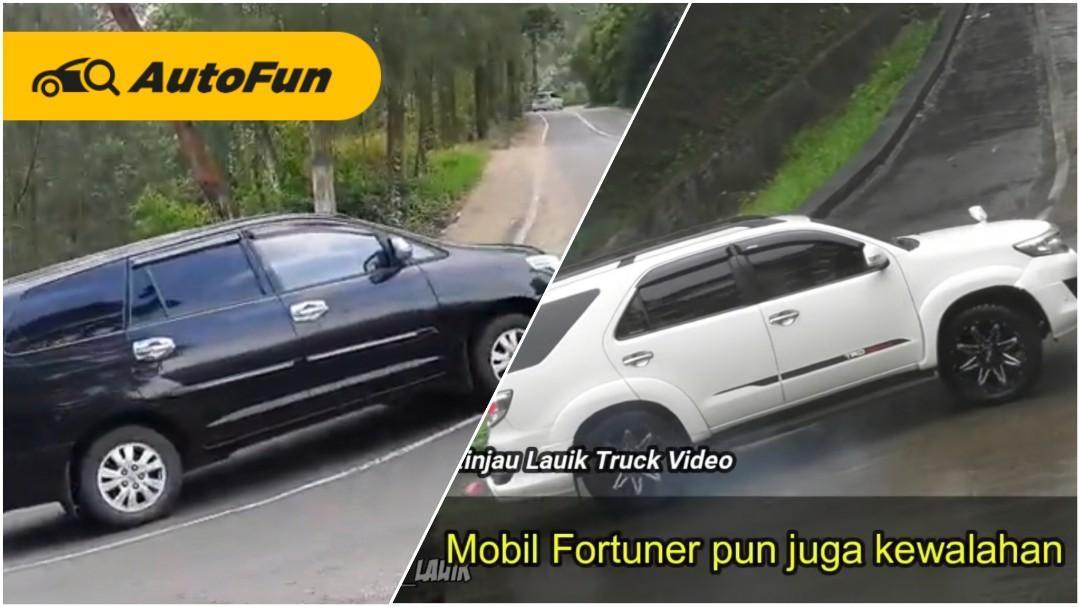 Viral Mobil RWD Toyota Fortuner dan Kijang Innova Nggak Kuat Nanjak, Skill Pengemudi Jadi Penentu 01