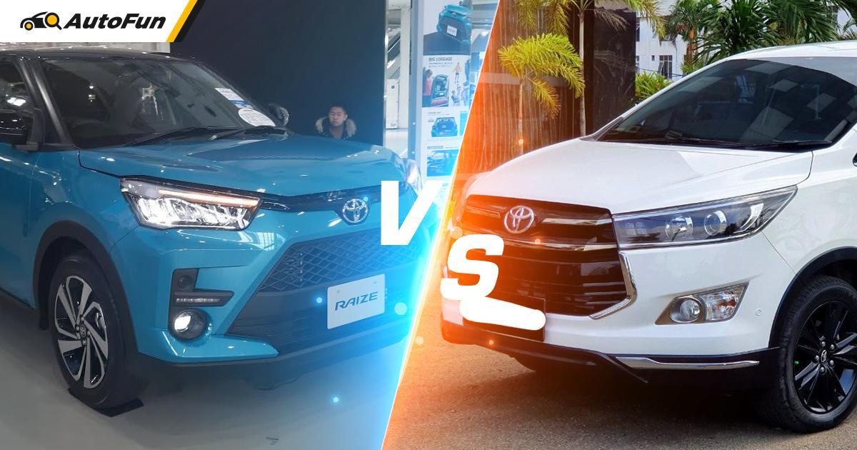 Toyota Raize vs Toyota Kijang Innova Bekas 2016 di Harga Rp 200 Jutaan, Pilih yang Mana? 01