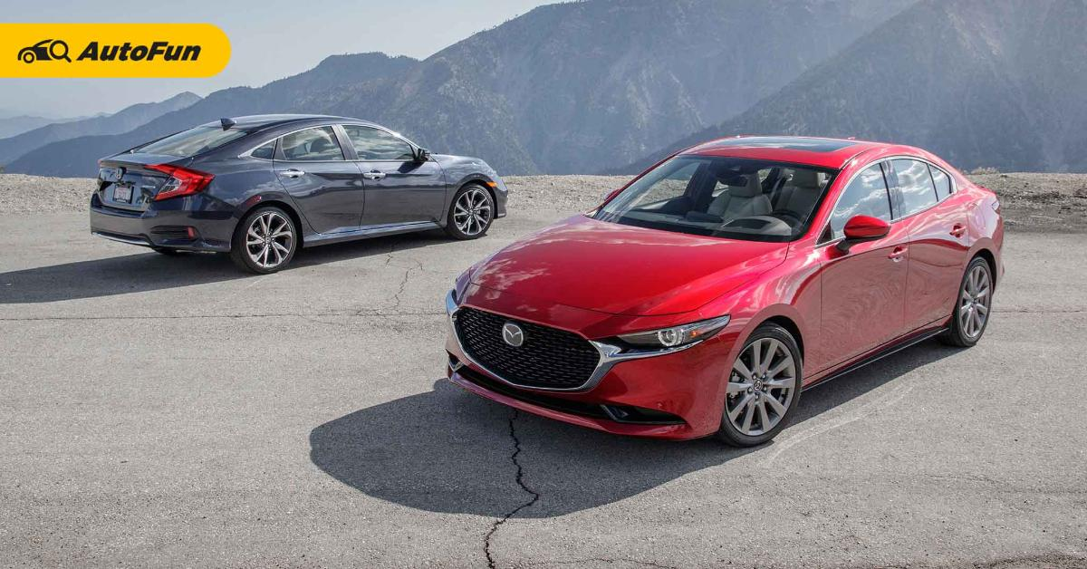 Konsumsi BBM Sedan Mana Paling Irit, Honda Civic Turbo atau Mazda 3? 01