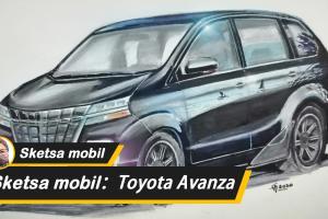"Sketsa Mobil Top Gear: Keajaiban membuat sketsa, Toyota Avanza menjadi Toyota Alphard ""versi ramah dikantong"""
