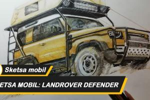 Sketsa mobil top gear: Gunakan pensil untuk meninggalkan kenangan gambar Landrover seri 3 paling klasik
