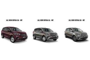 Hadir Dalam Tiga Varian, Ini Perbedaan Suzuki Ertiga GA, GL dan GX