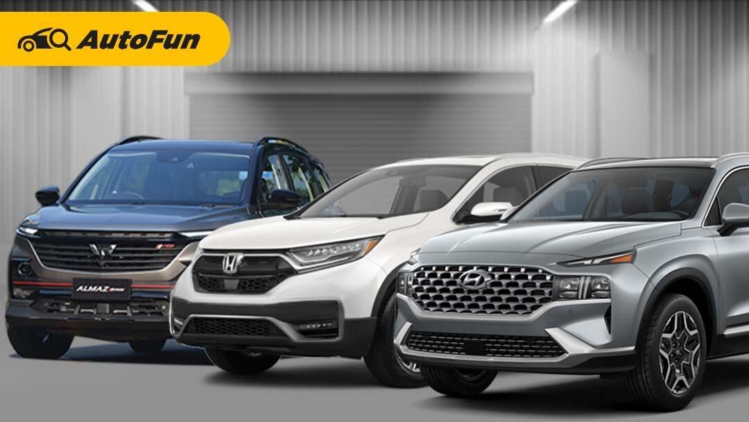 Hyundai Santa Fe Facelift Vs Wuling Almaz RS dan Honda CR-V, Mana Paling Pantas Dibeli? 01