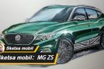 Sketsa mobil: Sketsa MG ZS dengan British Racing Green, kembalikan suasana sporty dari mobil sport Inggris kuno
