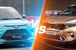 Adu Ganteng Crossover Under Rp300 Juta, Mending Pilih Toyota Raize Atau Kia Sonet?