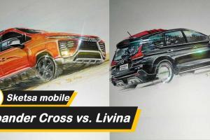 Perlengkapan atas Sketsa mobil: Battle on paper, Mitsubishi Xpander Cross dan Nissan Livina yang merupakan raja terkuat