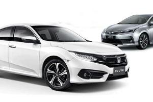 Komparasi Sedan Kompak Honda Civic Vs Toyota Corolla Altis