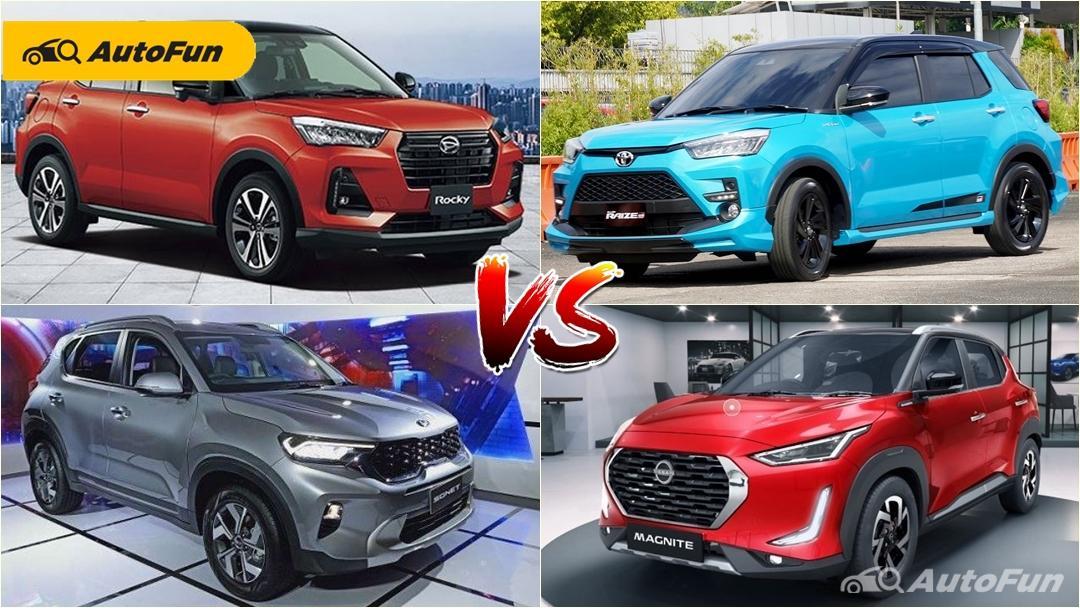 Toyota Raize dan Daihatsu Rocky vs Nissan Magnite dan KIA Sonet, Pertarungan Anime vs Bollywood 01