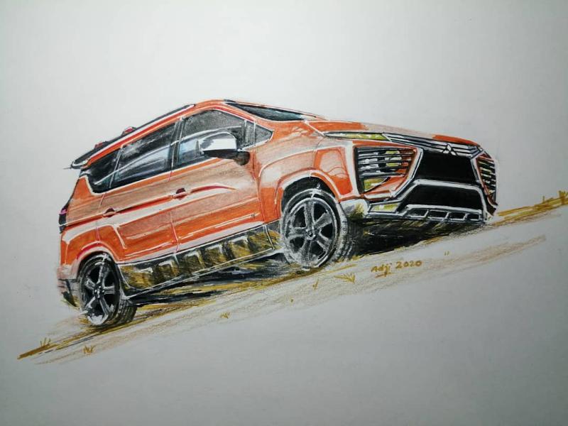 Perlengkapan Atas Sketsa Mobil Battle On Paper Mitsubishi Xpander Cross Dan Nissan Livina Yang Merupakan Raja Terkuat Autofun