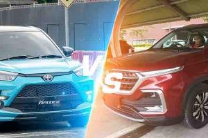 Komparasi Toyota Raize vs Wuling Almaz Bekas, Duo SUV yang Naik Daun di Harga Rp 200 Jutaan